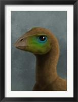 Framed Hypsilophodon dinosaur portrait