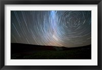 Framed Star trails around the south celestial pole, Somuncura, Argentina