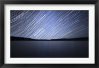 Framed Star trails of the celestial equator in Somuncura, Argentina