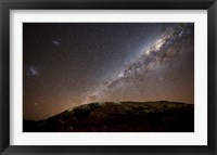 Framed Milky Way rising above the hills of Azul, Argentina