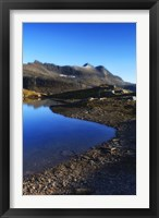 Framed Skittendalen mountain peaks in Troms County, Norway