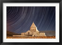 Framed Star trails above Saint Thaddeus Monastery, Iran