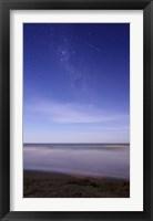 Framed meteor crossing the Milky Way, Miramar, Argentina