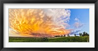 Framed Panoramic view of mammatocumulus clouds, Alberta, Canada