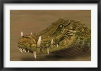 Framed Kaprosuchus saharicus head detail