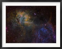 Framed Sharpless 2-132 emission nebula