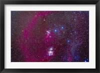 Framed Orion Nebula, Belt of Orion, Sword of Orion and nebulosity