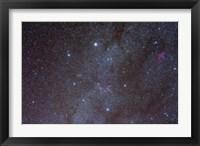 Framed Auriga constellation showing lanes of dark nebulosity