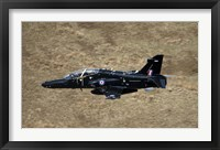 Framed Hawk T2 jet trainer aircraft of the Royal Air Force