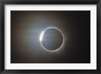 Framed second diamond ring during the total eclipse of the Sun