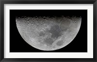 Framed feature known as Lunar-X visible on the moon's surface