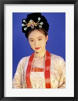 Framed Chinese Woman in Tang Dynasty Dress, China