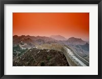 Framed Great Wall of China, Jinshanling, China