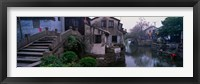 Framed Ancient Town and Canal, China