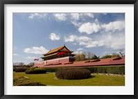 Framed Gate of Heavenly Peace, Forbidden City, Beijing, China