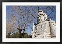 Framed Carved warrior statues, Changling Sacred Was, Beijing, China