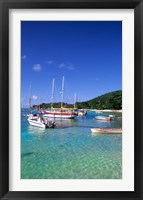 Framed Boats, beach, La Digue, Seychelle Islands