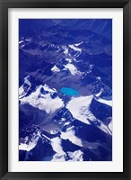 Framed Aerial View of Snow-Capped Peaks on the Tibetan Plateau, Himalayas, Tibet, China