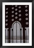 Framed Archway in Al-Hassan II mosque, Casablanca, Morocco
