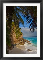 Framed Anse Beach on Fregate Island, Seychelles, Africa