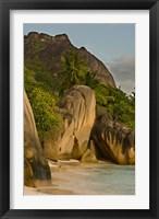 Framed Anse-Source D'Argent Beach, Seychelles, Africa