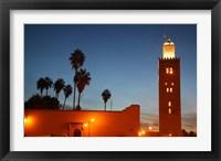 Framed Africa, Morocco, Marrakesh, Koutoubia minaret