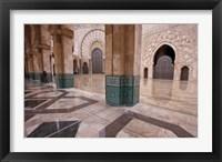 Framed Al-Hassan II mosque, Casablanca, Morocco