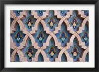 Framed Wall tiles in Al-Hassan II mosque, Casablanca, Morocco