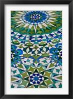 Framed Floor tiles in Al-Hassan II mosque, Casablanca, Morocco