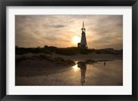 Framed Beautiful Beach Sunset, Jeffrey's Bay, South Africa