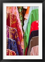 Framed Caftan Textiles, Fes Medina, Morocco