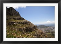 Framed Cape Town, South Africa. Hiking up to Table Mountain.