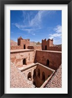 Framed Deserted kasbah on the Road of a Thousand Kasbahs, Tenirhir, Morocco