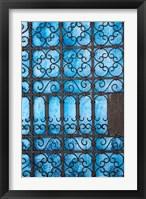 Framed Door detail, Rabat medina, Morocco