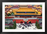 Framed Forbidden City North Gate, Gate of Divine Might, Beijing, China