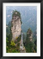 Framed Cable Car To Yellow Stone Stronghold Village, Zhangjiajie National Forest Park, Hunnan, China