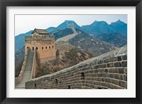 Framed China, Hebei, Luanping, Chengde. Great Wall of China