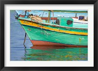 Framed Fishing boats in the Harbor of Alexandria, Egypt