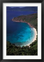 Framed Aerial View of Tropical Beach, Seychelles