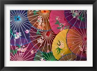 Framed Colorful Silk Umbrellas, China