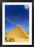 Framed Great Pyramid of Giza, Khufu, Cheops, Cairo, Egypt