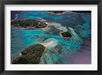 Framed Aerial View of Ste Anne Marine National Park, Seychelles