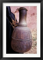 Framed Copper Water Jug is Carried from Well to Homes, Morocco