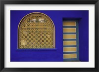 Framed Doorway in Jardin Majorelle, Marrakech, Morocco
