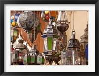Framed Decorative lanterns in Fes medina, Morocco