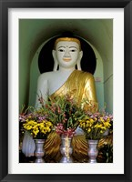 Framed Buddha with Flowers