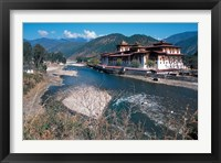 Framed Historic Buddhist Monastery, Bhutan