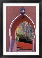 Framed Arched Door and Garden, Morocco