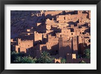 Framed Ait Benhaddou Ksour (Fortified Village) with Pise (Mud Brick) Houses, Morocco