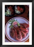 Framed Bon Bon Plume Restaurant, Seychelles